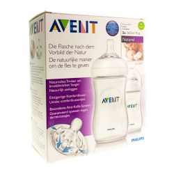 Avent Natural biberon duo 1mois+ 2x260ml