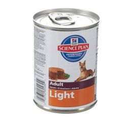 Hills Science hond adult light Blikvoeding 370g